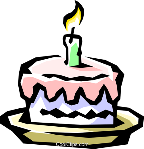 Birthday cake Royalty Free Vector Clip Art illustration even0336