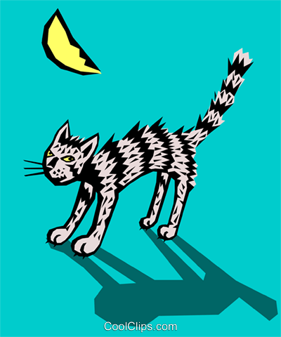 Cat Royalty Free Vector Clip Art illustration even0377
