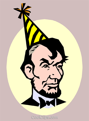 Abraham Lincoln's Birthday Royalty Free Vector Clip Art illustration even0379