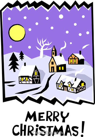 Merry Christmas! Royalty Free Vector Clip Art illustration even0395