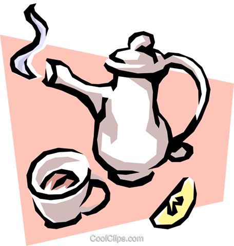 Tea Party Vektor Clipart Bild food0484