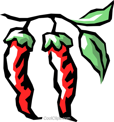 Red peppers Royalty Free Vector Clip Art illustration food0487