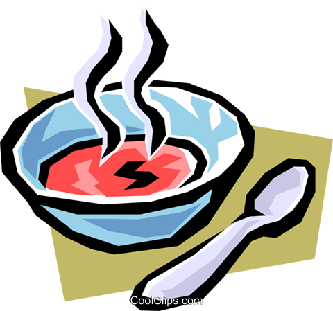 Soup Royalty Free Vector Clip Art illustration food0488