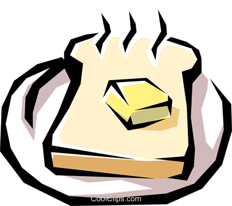 Loaf of bread Royalty Free Vector Clip Art illustration food0498