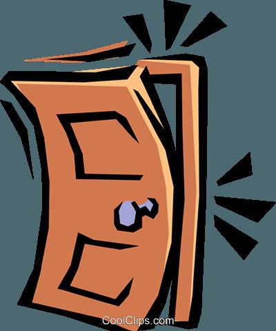 porte qui claque vecteurs de stock et clip art vectoriel