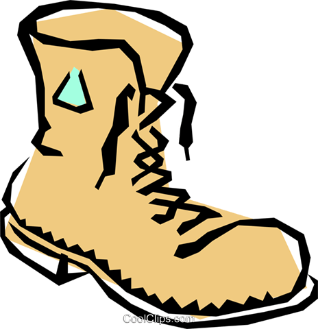 Boot Royalty Free Vector Clip Art illustration hous0599