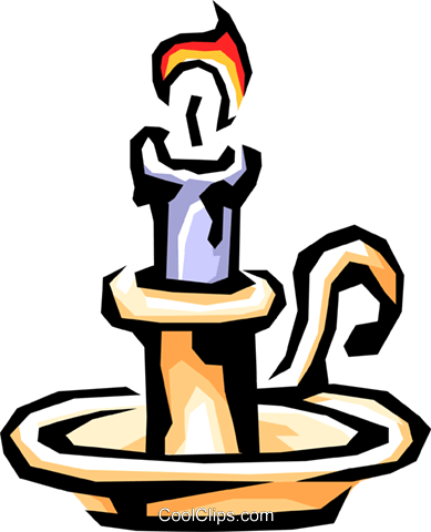 Candle Royalty Free Vector Clip Art illustration hous0610