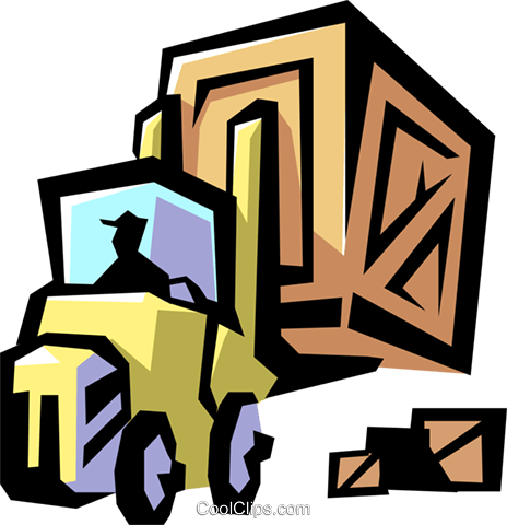 Forklift Royalty Free Vector Clip Art illustration indu0522