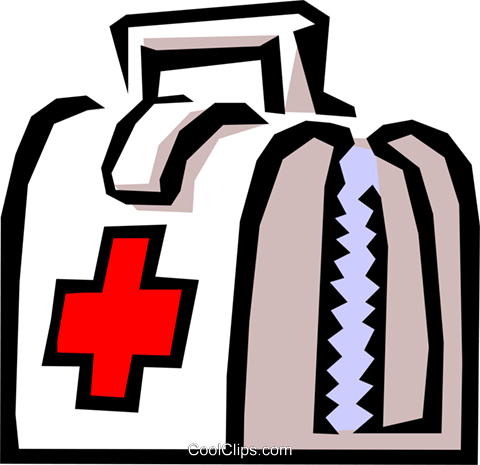 Doctor's bag Royalty Free Vector Clip Art illustration medi0232