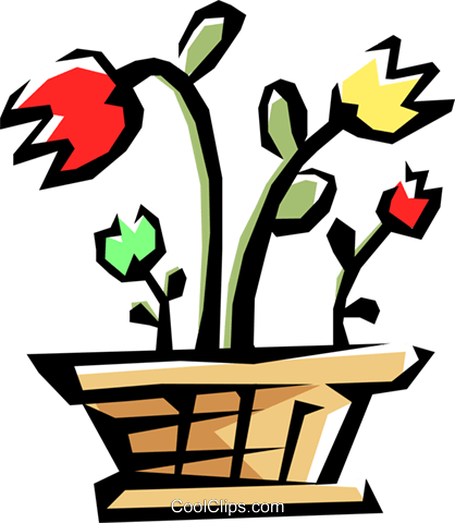 Houseplants Royalty Free Vector Clip Art illustration natu0370