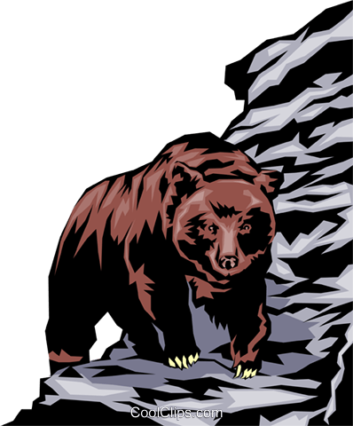 Grizzly bear Royalty Free Vector Clip Art illustration anim0037