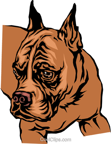 Bulldog Royalty Free Vector Clip Art illustration anim0041