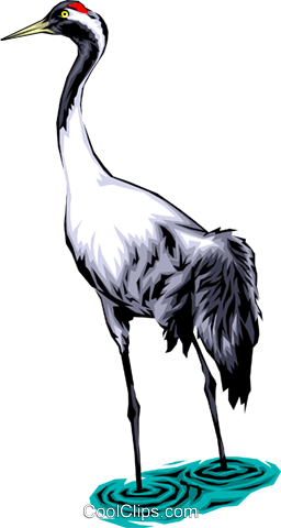 Common crane Royalty Free Vector Clip Art illustration anim0061