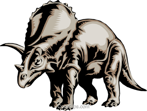 Triceratops Royalty Free Vector Clip Art illustration anim0063