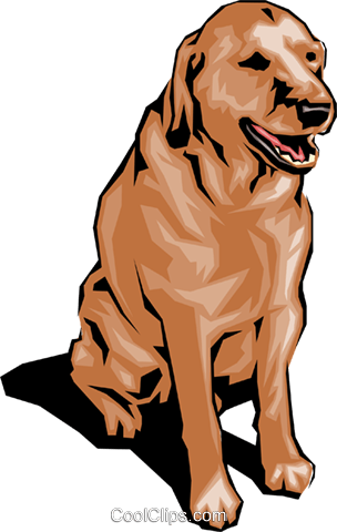 Doggy dog Royalty Free Vector Clip Art illustration anim0076