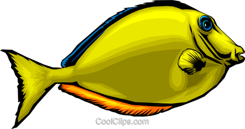 Tropical fish Royalty Free Vector Clip Art illustration anim0083
