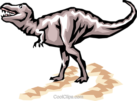 Dinosaurs Royalty Free Vector Clip Art illustration anim0404
