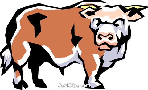 Cow Royalty Free Vector Clip Art illustration anim0848