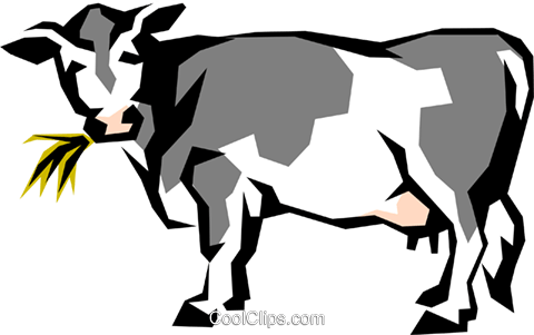 Dairy cow Royalty Free Vector Clip Art illustration anim0850