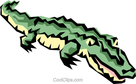 Alligators Royalty Free Vector Clip Art illustration anim0851