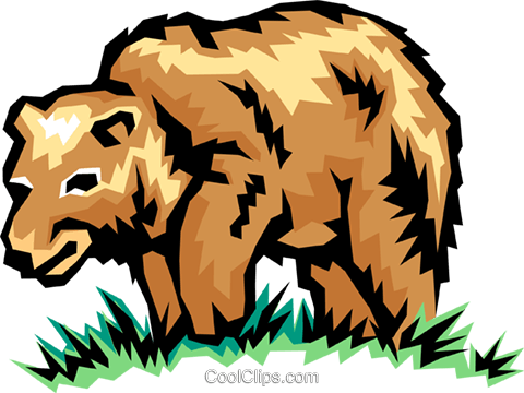 Brown bear Royalty Free Vector Clip Art illustration anim0854