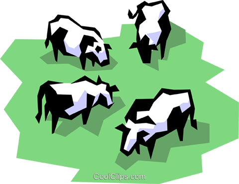 Dairy cows Royalty Free Vector Clip Art illustration anim0855