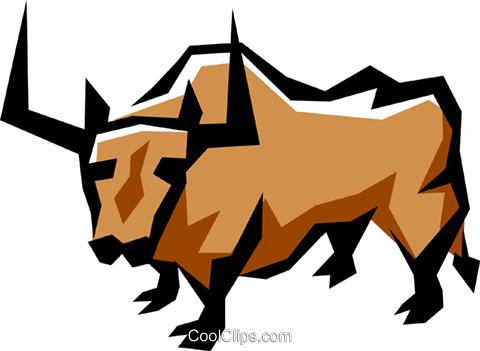Bull Royalty Free Vector Clip Art illustration anim0856