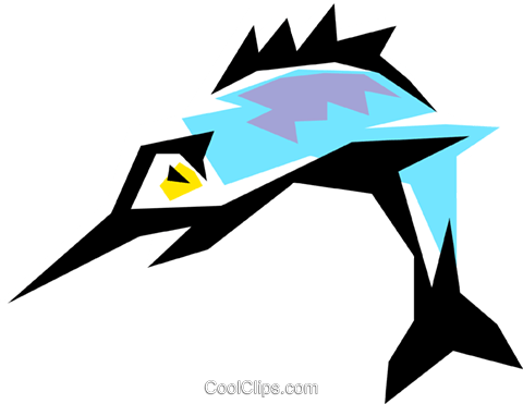 Sports fish Royalty Free Vector Clip Art illustration anim0857