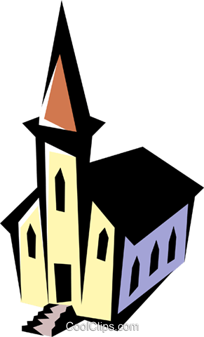 Church Royalty Free Vector Clip Art illustration arch0293