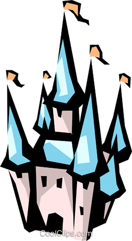 Disney castle Royalty Free Vector Clip Art illustration arch0294