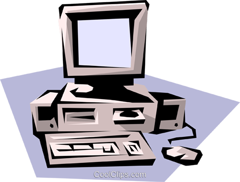 Stand-alone computer Royalty Free Vector Clip Art illustration busi0129