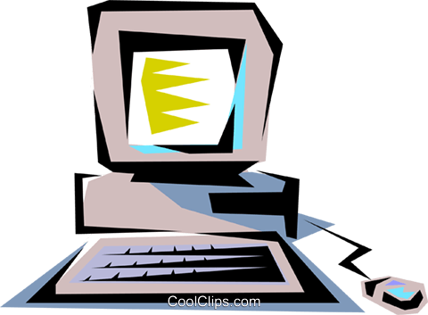 Computer Royalty Free Vector Clip Art illustration busi0136