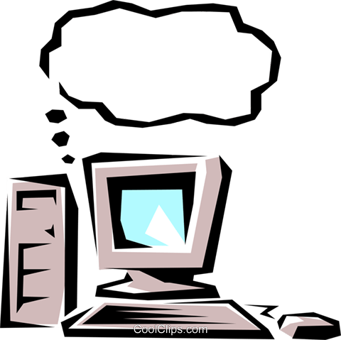 Computers Royalty Free Vector Clip Art illustration busi0138