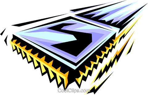 Computer chip Royalty Free Vector Clip Art illustration busi0142
