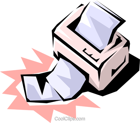 Fax machine Royalty Free Vector Clip Art illustration busi0146