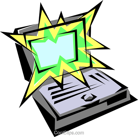 Laptop computers Royalty Free Vector Clip Art illustration busi0153