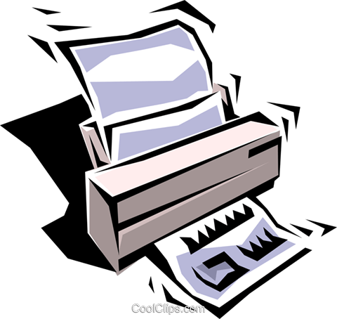 Printer Royalty Free Vector Clip Art illustration busi0155
