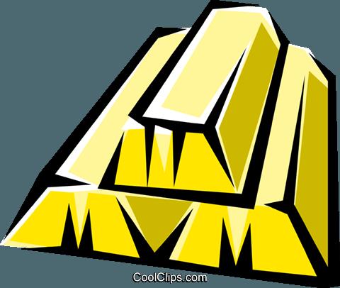 Gold Bars Royalty Free Vector Clip Art Illustration Busi0601