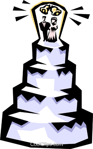 Wedding cake Royalty Free Vector Clip Art illustration even0340