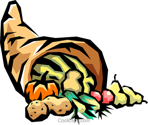 cornucopia with fall harvest royalty free vector clip art rh search coolclips com cornucopia clipart outline cornucopia clipart free