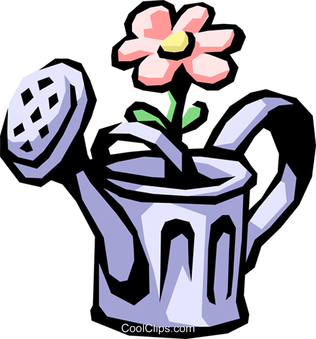Watering can Royalty Free Vector Clip Art illustration hous0612