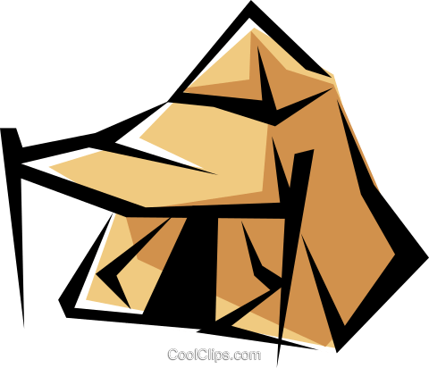 Pup tent Royalty Free Vector Clip Art illustration hous0663
