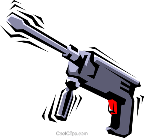 Electric drill Royalty Free Vector Clip Art illustration indu0349