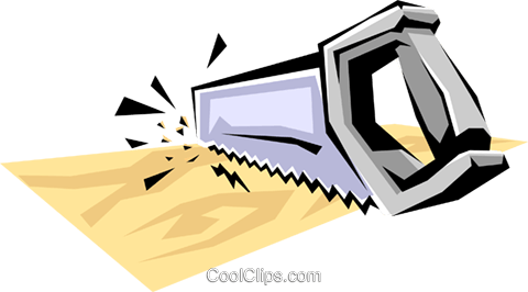 Handsaw Royalty Free Vector Clip Art illustration indu0351