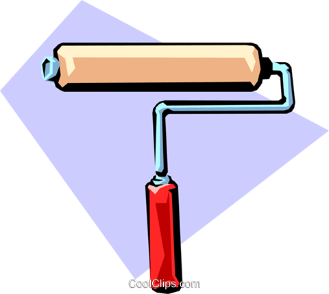 Paint roller Royalty Free Vector Clip Art illustration indu0356