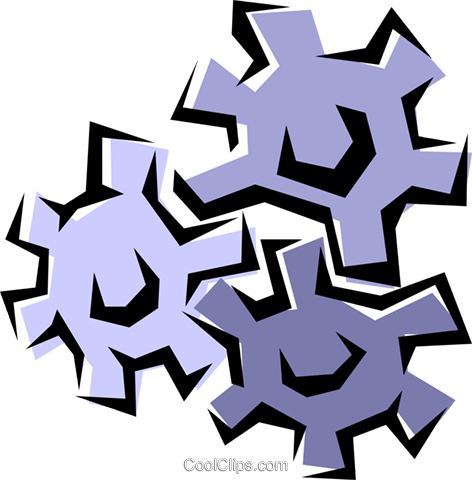 Gears Royalty Free Vector Clip Art illustration indu0559