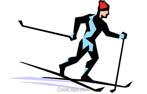 Skier Royalty Free Vector Clip Art illustration peop1332