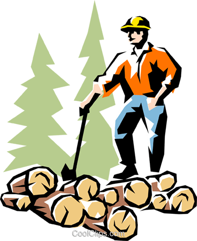 Lumberjack Royalty Free Vector Clip Art illustration peop1336