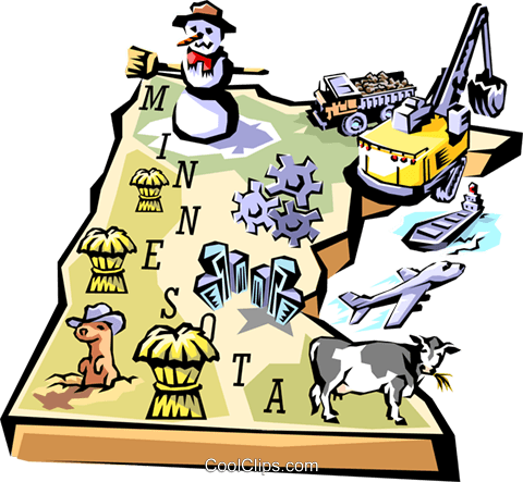 Minnesota vignette map Royalty Free Vector Clip Art illustration worl0518