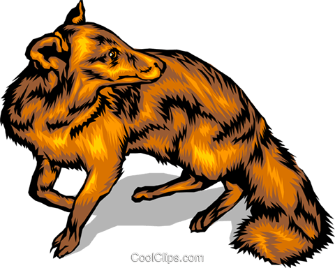 Fox Royalty Free Vector Clip Art illustration anim0086